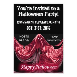 Invitación roja asustadiza del fiesta de Halloween