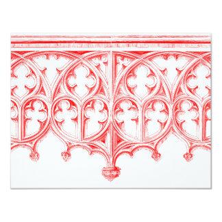 Invitación roja color de rosa del boda de la invitación 10,8 x 13,9 cm