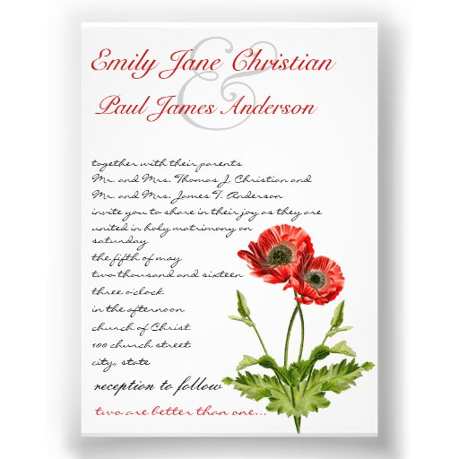 Invitación roja cristiana del boda de la flor de l de Zazzle.
