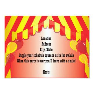 Invitación roja de la celebración del fiesta del