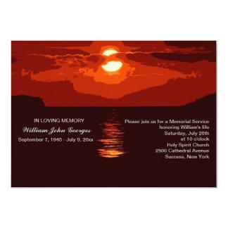 Invitación roja de la ceremonia conmemorativa de