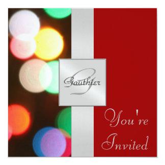 Invitación roja de la cinta del día de fiesta de
