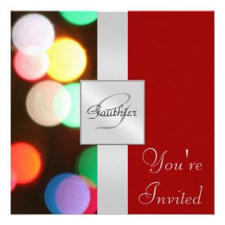 Invitación roja de la cinta del día de fiesta de l