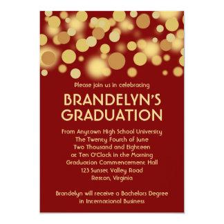 Invitación roja de la graduación de la celebración