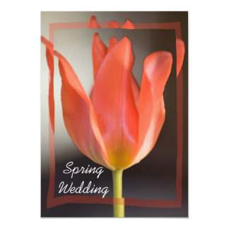 Invitación roja del boda de la primavera del