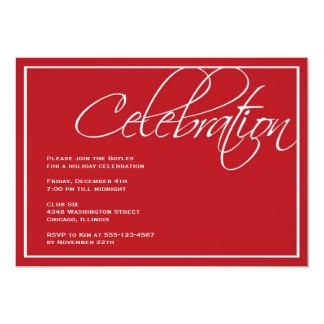 Invitación roja del fiesta de la celebración del