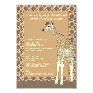 Invitación rojiza de la jirafa
