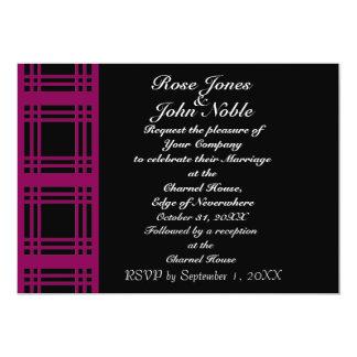 Invitación (Rojo-Violeta) del boda de la guinga