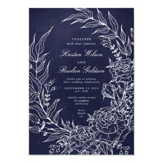 Invitación romántica del boda de la marina de