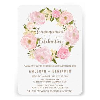 Invitación romántica del compromiso de la guirnald