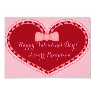 Invitación romántica del corazón del día de San