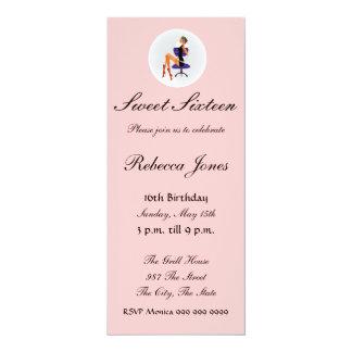 Invitación rosada 16 del dulce dieciséis