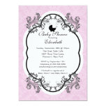 Invitación rosada de la fiesta de bienvenida al invitación 12,7 x 17,8 cm