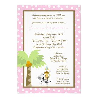 invitación rosada de la fiesta de bienvenida al be