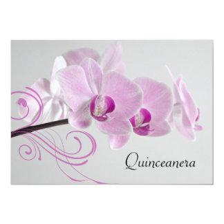 Invitación rosada de Quinceanera de la elegancia