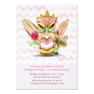 Invitación rosada de Tiki