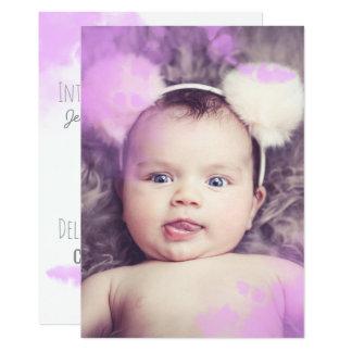 Invitación rosada del bebé de la niña de la