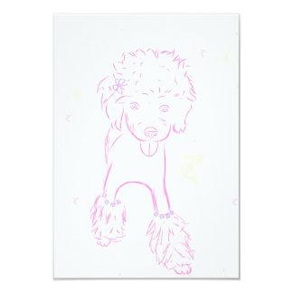 Invitación rosada del caniche
