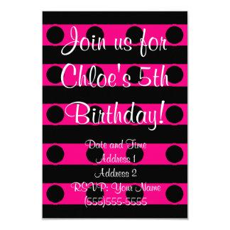 Invitación rosada del cumpleaños