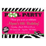 Invitación rosada del cumpleaños de la fiesta en l