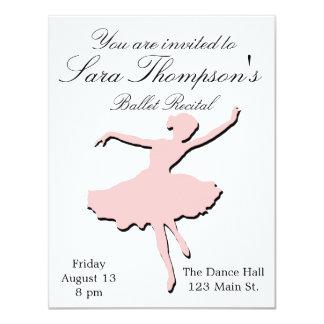 Invitación rosada del decreto de la danza
