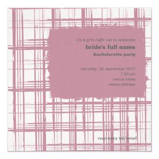 Invitación rosada del fiesta de Bachelorette