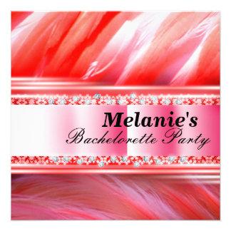 Invitación rosada del fiesta de Bachelorette del f