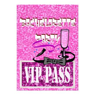Invitación rosada del fiesta de Bachelorette vip
