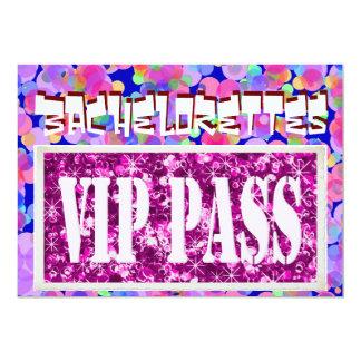 Invitación rosada del fiesta del vip de los globos