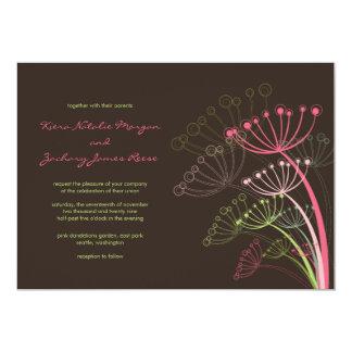 Invitación rosada dulce del boda de la primavera