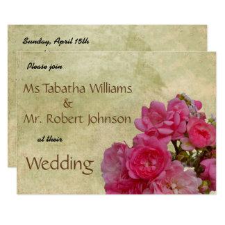 Invitación rosada hermosa del boda del diseño de