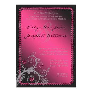 Invitación rosada ID169 del boda de los amores