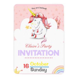 Invitación rosada personalizada del cumpleaños del