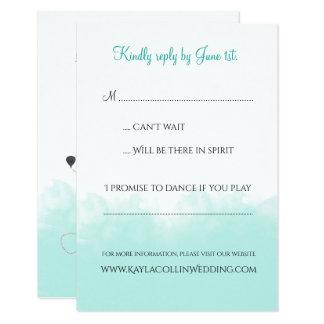 Invitación RSVP del boda del destino del mapa de