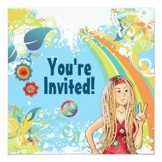 Invitación rubia de la fiesta de cumpleaños del