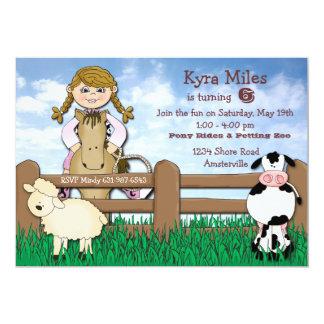 Invitación rubia de la granja de la vaquera invitación 12,7 x 17,8 cm