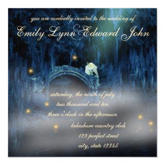 Invitación rubia del boda de la dicha del pantano invitación 13,3 cm x 13,3cm