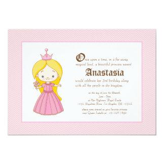 Invitación rubia del cumpleaños de la Princesa