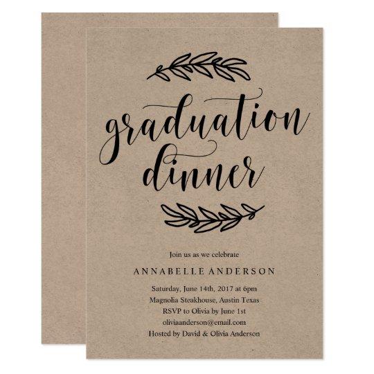 Invitación Rústica De La Cena De La Graduación