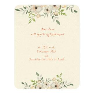 Invitación rústica de la dama de honor para