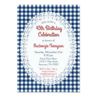 Invitación rústica de la fiesta de cumpleaños de