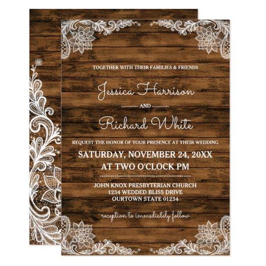Invitación rústica de madera del granero y del