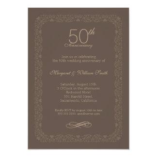 Invitación rústica del aniversario de boda del