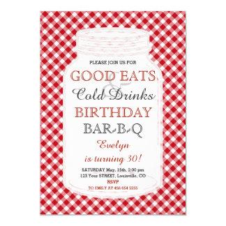 Invitación rústica del Bbq del cumpleaños del
