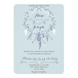 Invitación rústica del boda de Boho