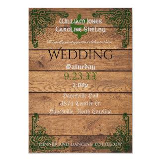Invitación rústica del boda de Claddagh del Celtic