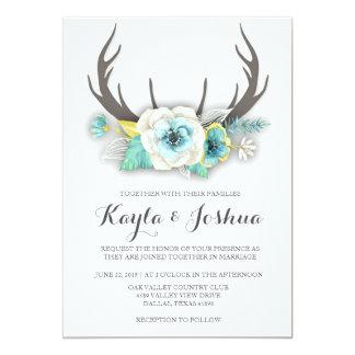 Invitación rústica del boda de la asta
