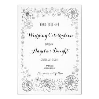 Invitación rústica del boda de la flor