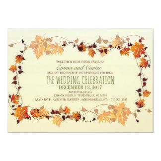 Invitación rústica del boda de la guirnalda de las