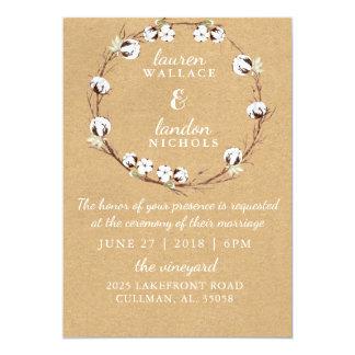 Invitación rústica del boda de la guirnalda del